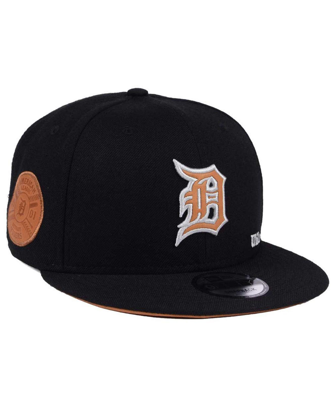 check out 0c1b4 fbbba ... best lyst ktz detroit tigers x wilson side hit 9fifty snapback cap in  9ffa8 def2a