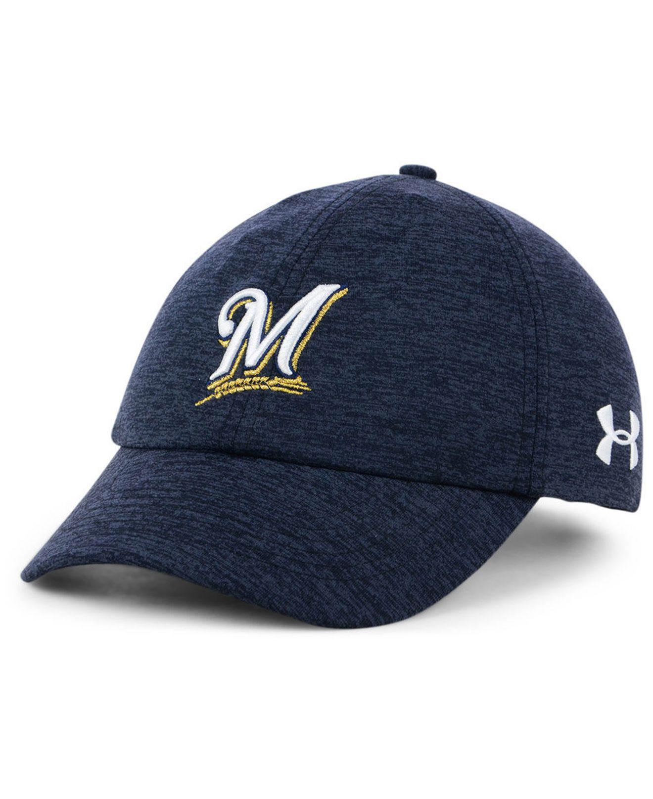 0e352464ece Lyst - Under Armour Milwaukee Brewers Renegade Twist Cap in Blue
