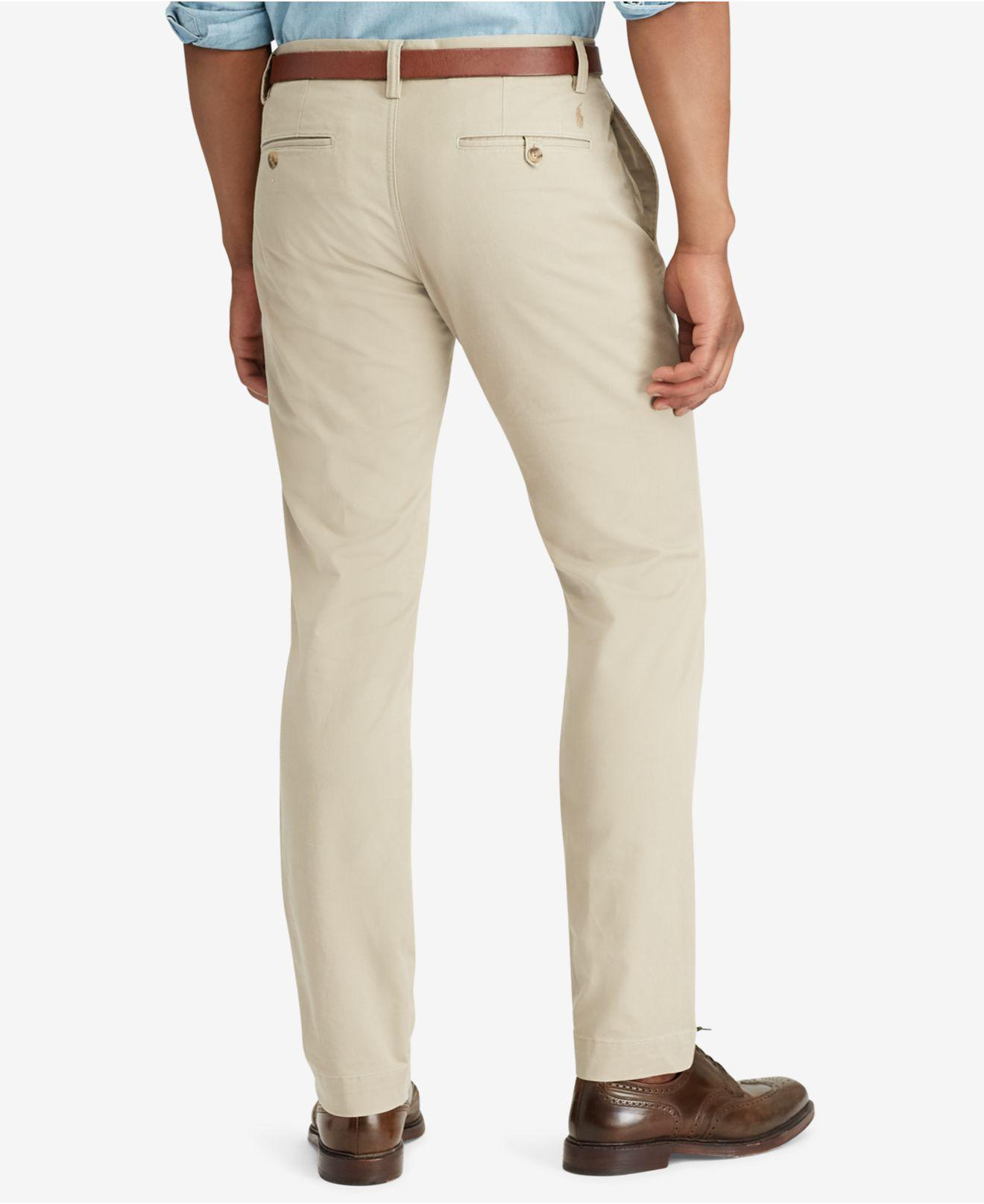 851bc42f13262 Lyst - Polo Ralph Lauren Men s Hampton Straight-fit 5-pocket Pants in  Natural for Men - Save 66%