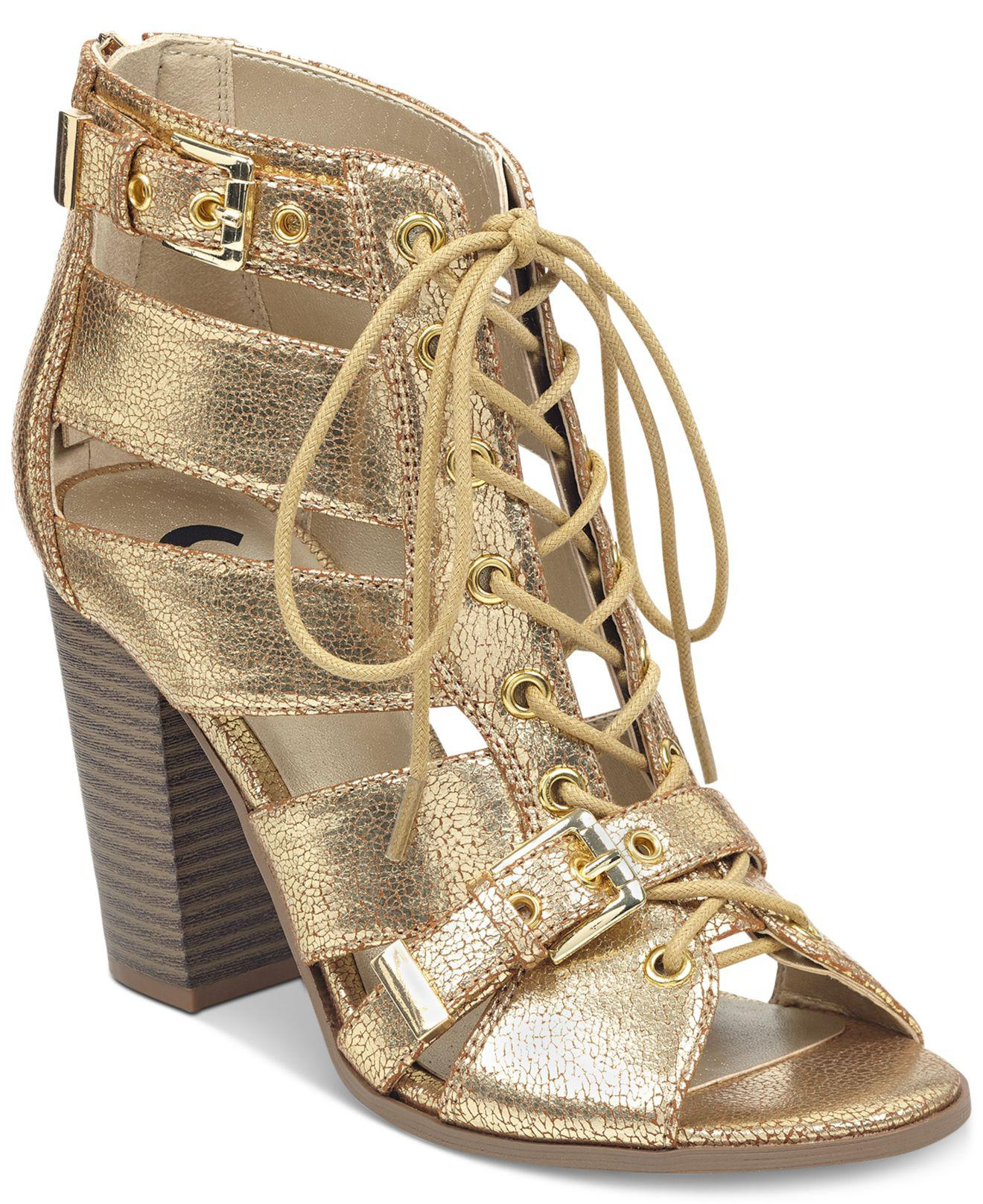 G by Guess Portlyn Dress Sandals in Gold (Metallic) - Lyst