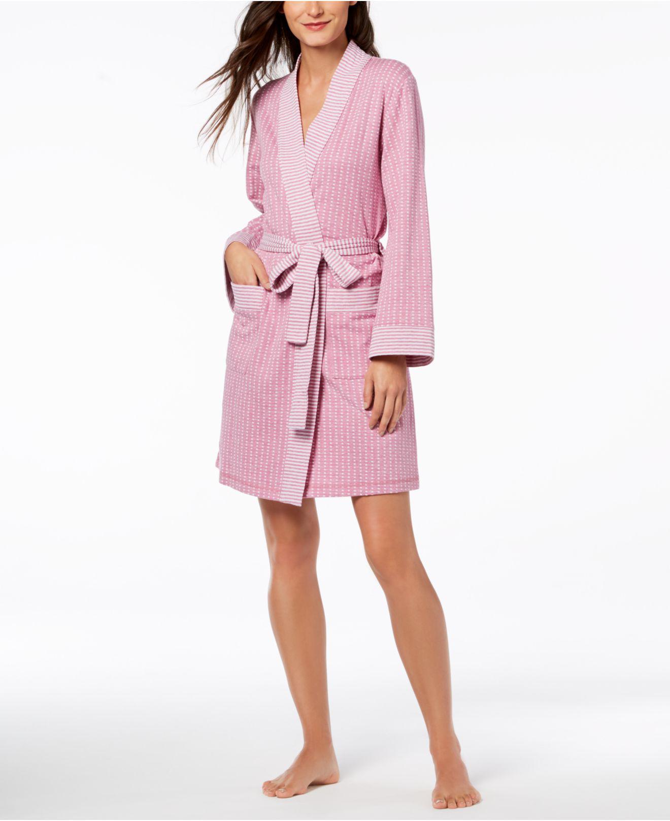 ae6f3a401e Lyst - Charter Club Knit Robe