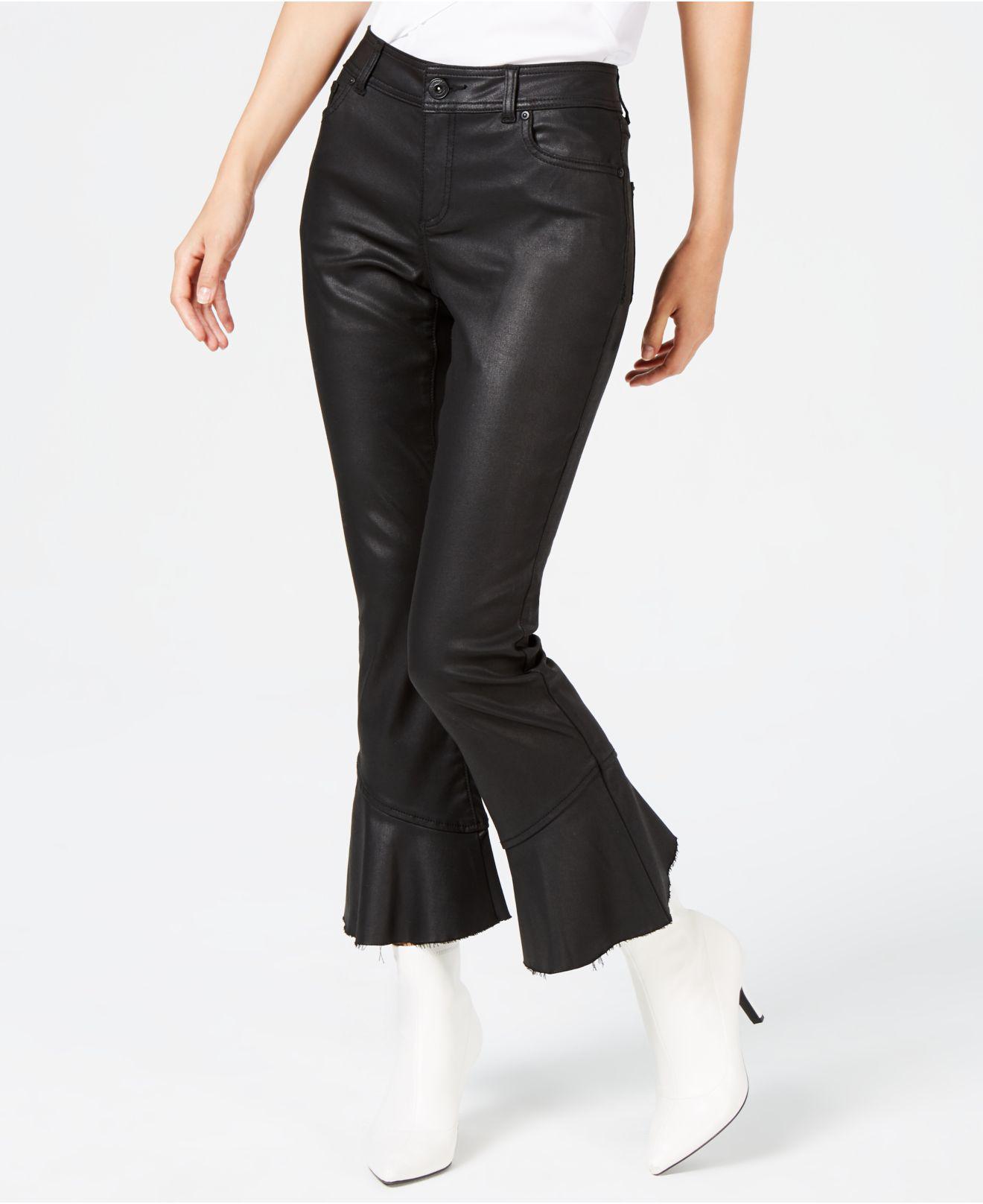 473f853088c Lyst - INC International Concepts I.n.c. Coated Ruffle-hem Jeans ...
