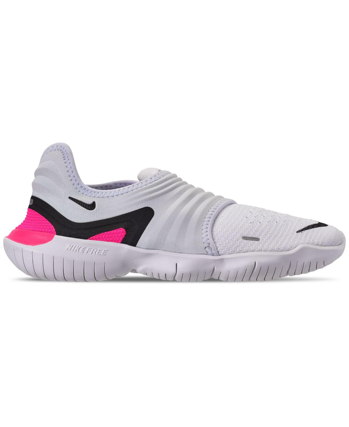 new product dd2de e23c5 Nike Free Rn Flyknit 3.0 Running Sneakers From Finish Line - Lyst