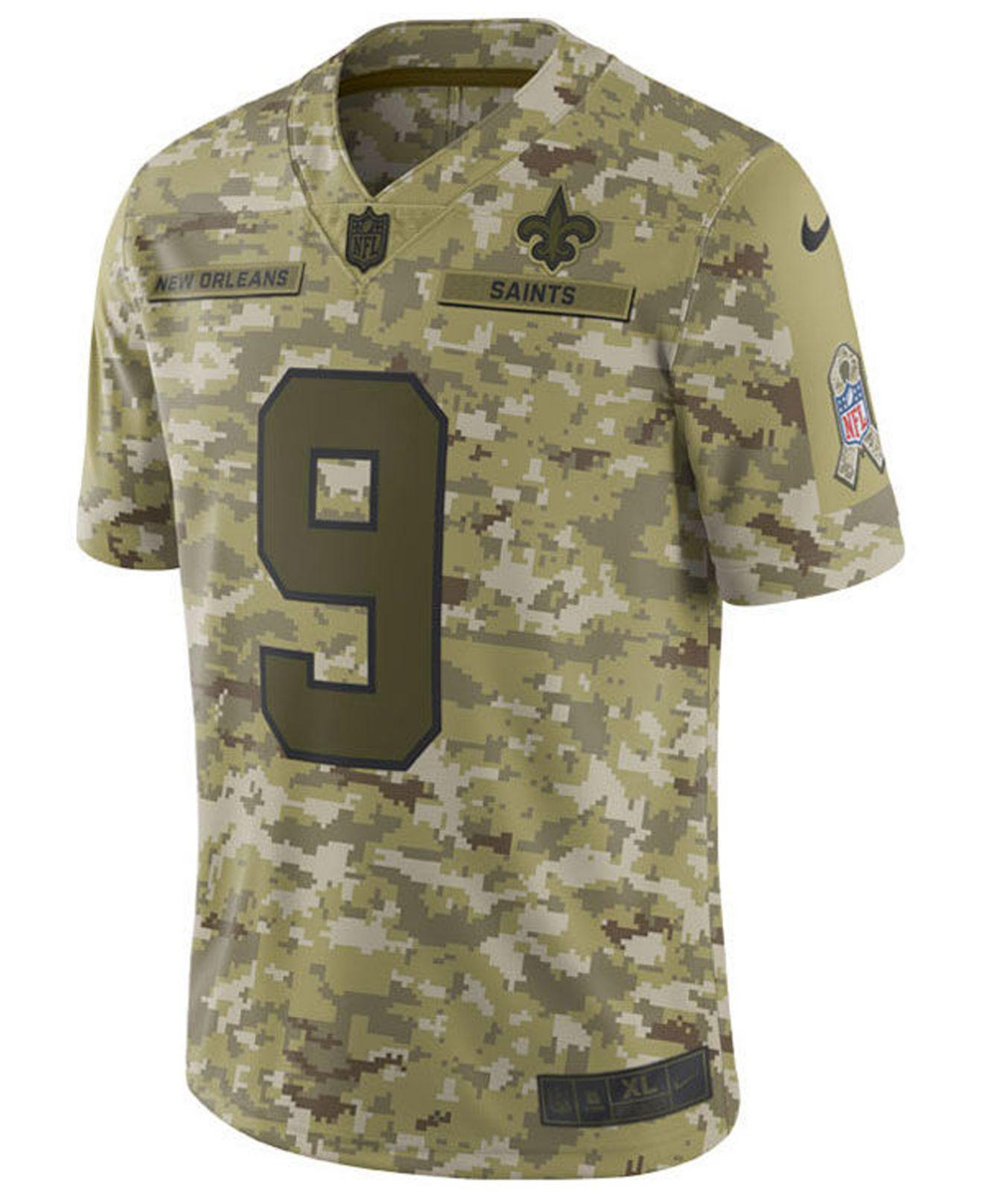 Drew Brees New Orleans Saints Salute To Service Jersey 2018