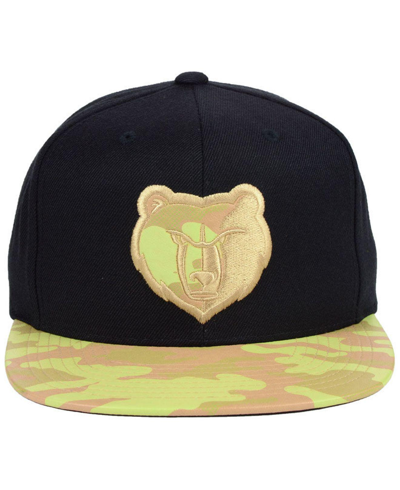 sports shoes 972c1 76db3 Lyst - Mitchell   Ness Memphis Grizzlies Natural Camo Snapback Cap in Black  for Men