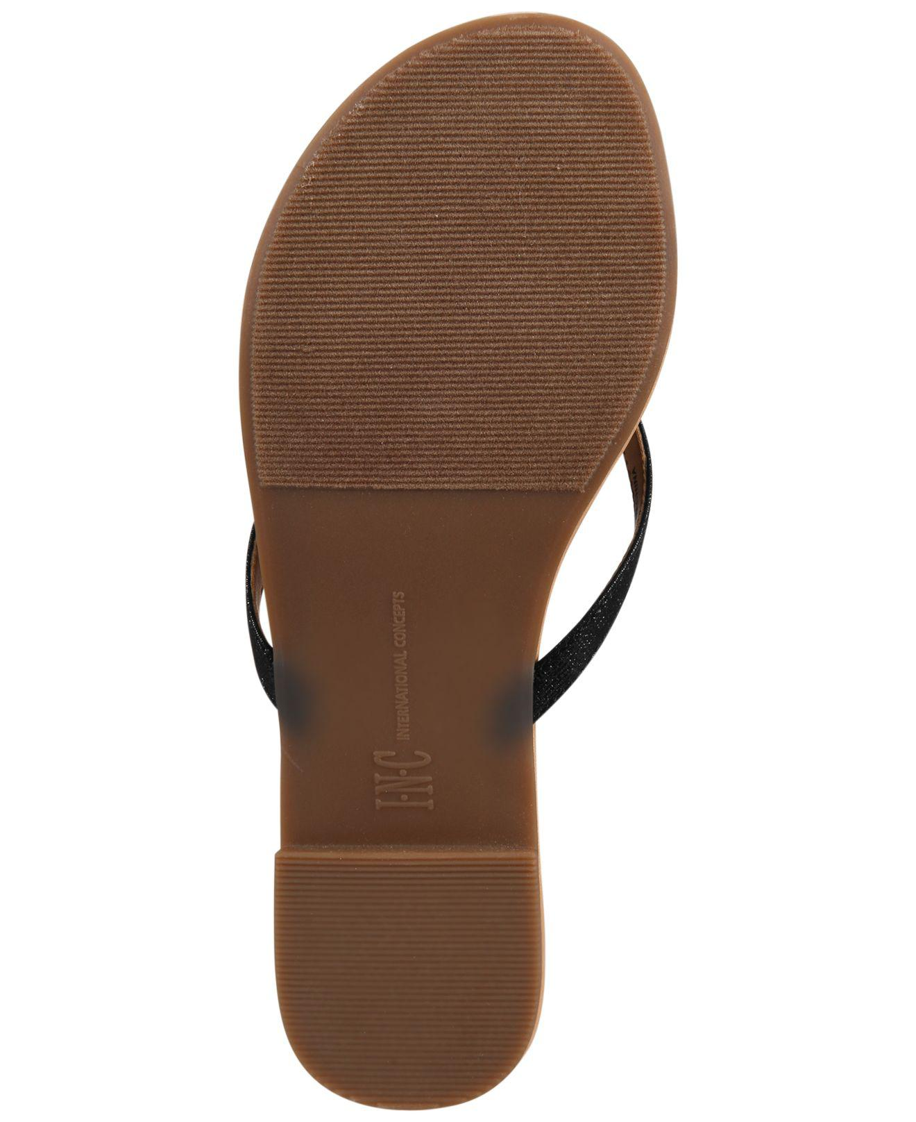 62f00290c142bf Lyst - INC International Concepts Women s Mabae Bow Flat Sandals in ...