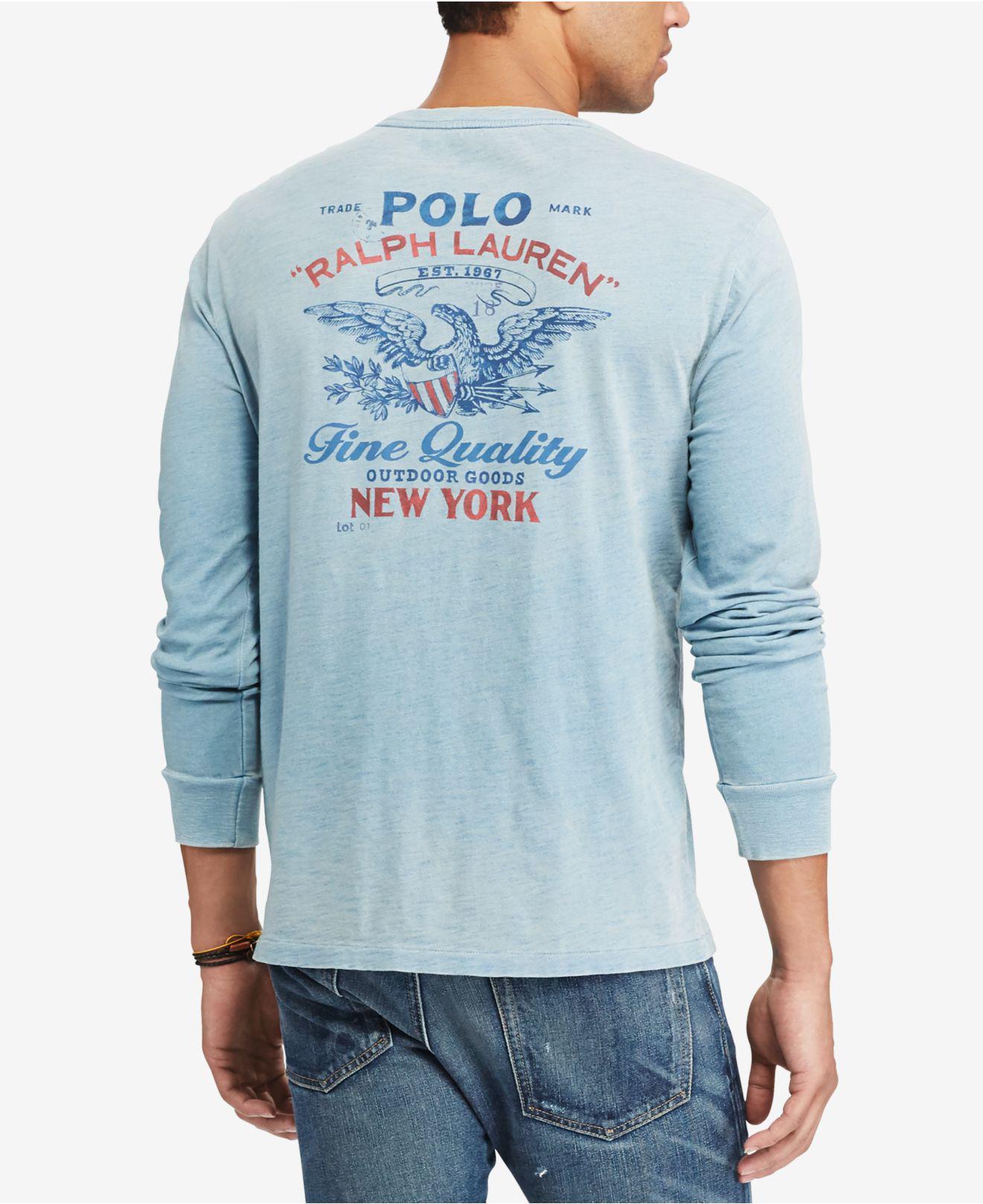58a26684fc92 Lyst - Polo Ralph Lauren Men s Custom Slim Fit Long-sleeve Cotton T ...