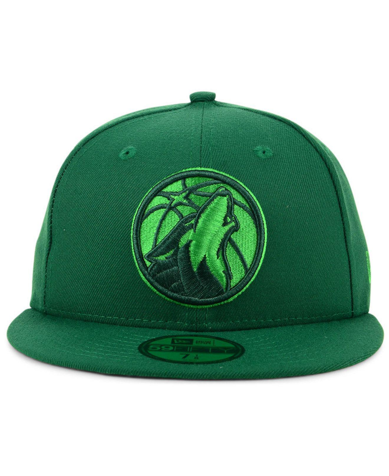 newest collection ac96a 7a767 ... australia lyst ktz minnesota timberwolves color prism pack 59fifty  fitted cap in green for men 3de64