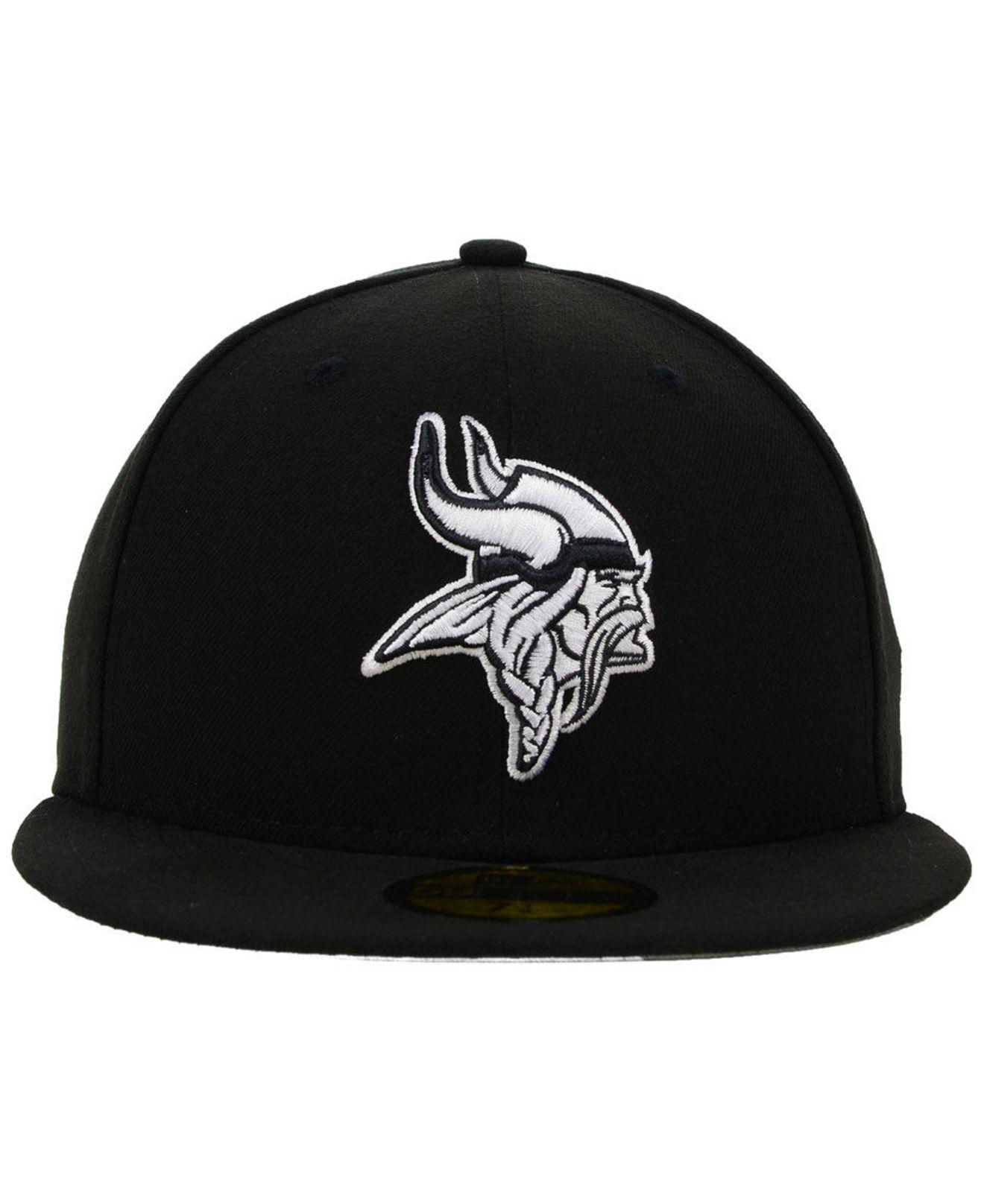 best website f3aa7 35570 ... snapback cap graphite new fa9d6 9ced4  clearance lyst ktz minnesota  vikings black and white 59fifty fitted cap in black for men c8465