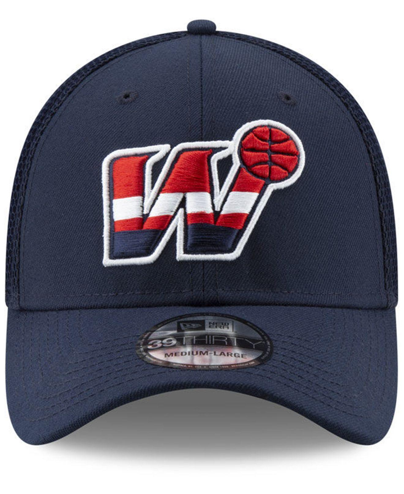 b05a987a6056e Lyst - KTZ Washington Wizards Back Half 39thirty Cap in Blue for Men