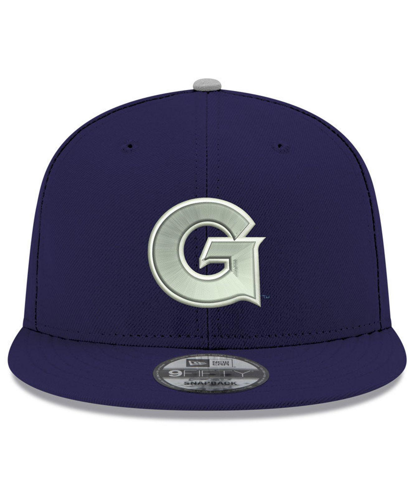 low priced 813c1 2437e Lyst - KTZ Georgetown Hoyas Core 9fifty Snapback Cap in Blue for Men