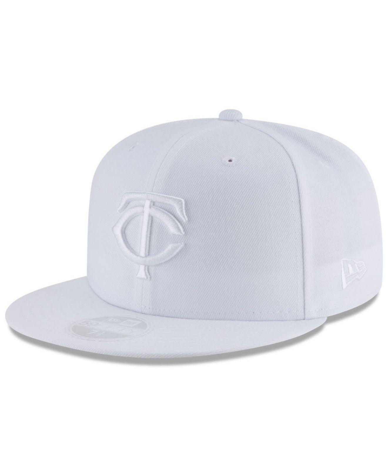 low priced 3691e f3e22 ... sale ktz minnesota twins white out 59fifty fitted cap for men lyst.  view fullscreen 4c070