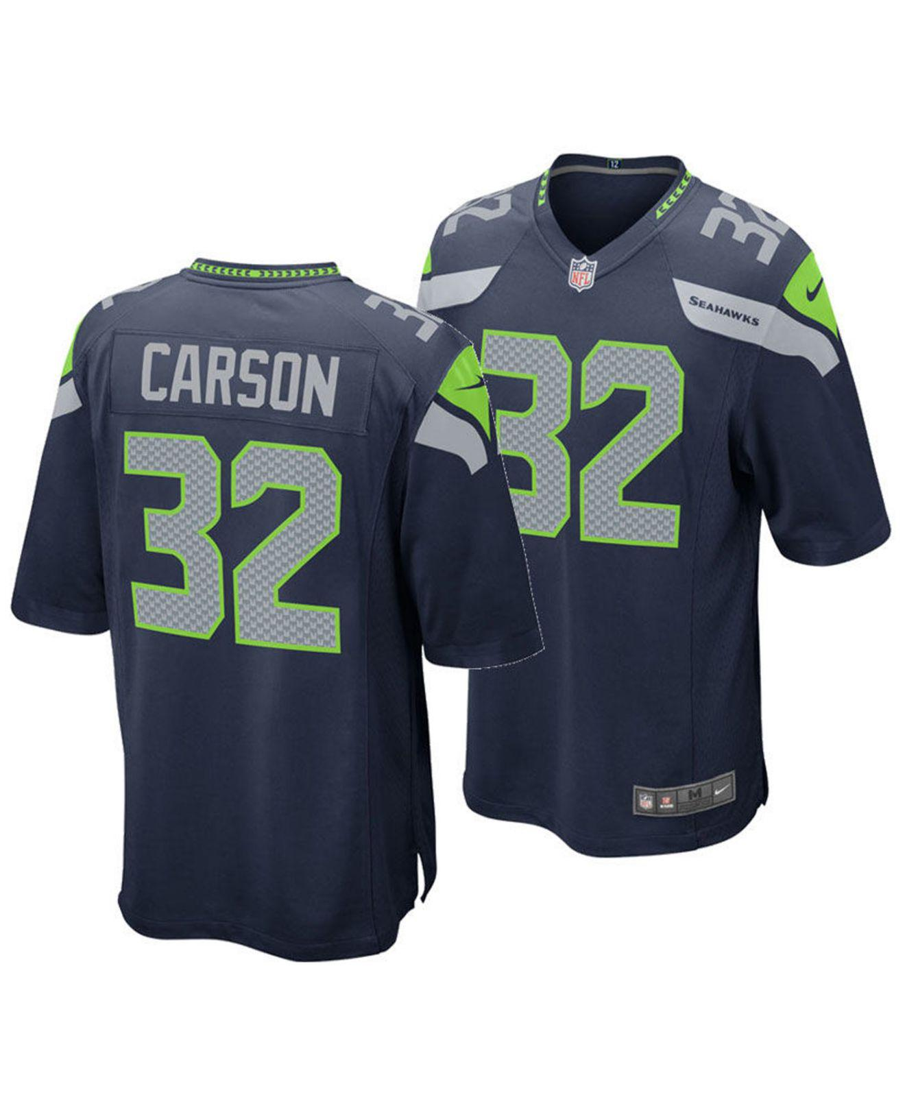 Chris Carson Seattle Seahawks Game Jersey