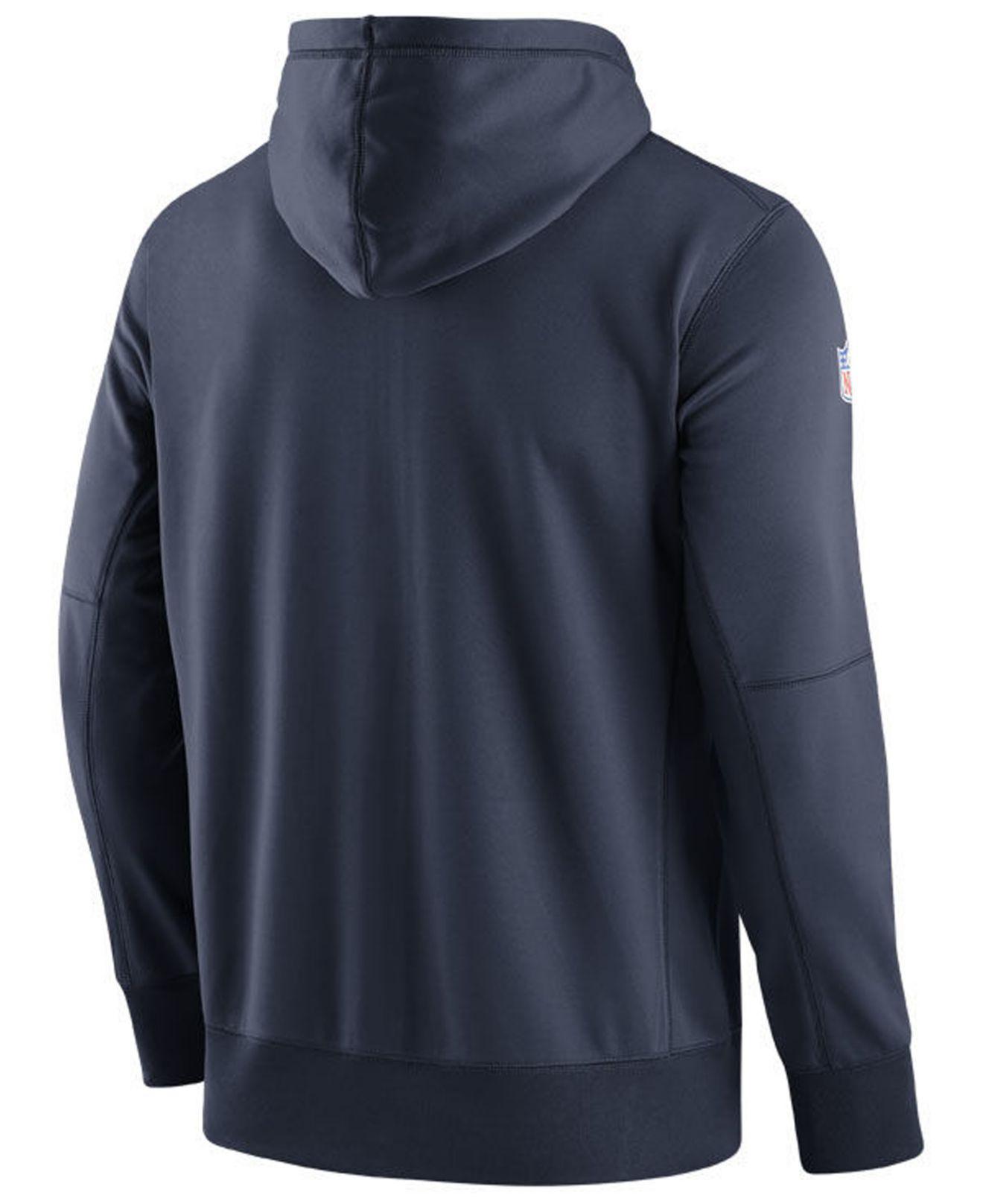 54a9de63eaf Lyst - Nike Seattle Seahawks Seismic Therma Full-zip Hoodie in Blue for Men