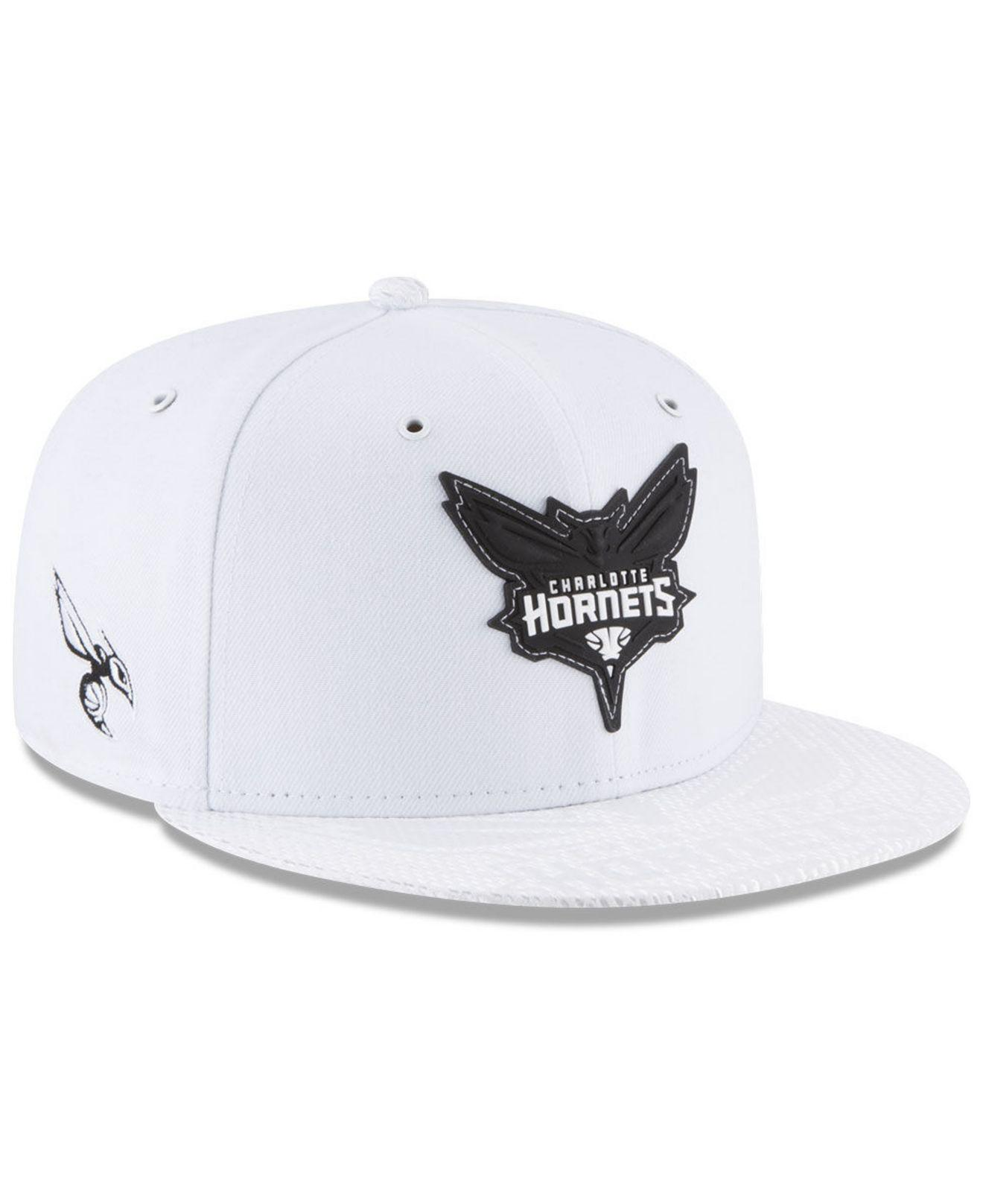 purchase cheap 38e91 1ef6e KTZ - White Charlotte Hornets Back 1 2 Series 9fifty Snapback Cap for Men  -. View fullscreen