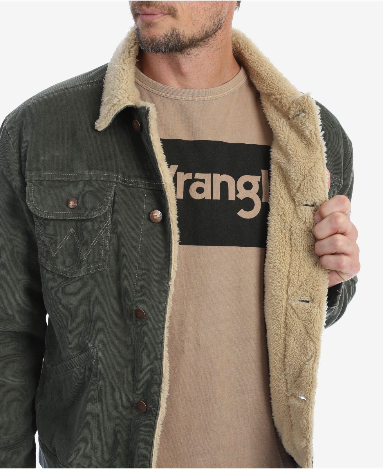 fccb9c17 Wrangler - Multicolor Heritage Sherpa Lined Corduroy Jacket for Men - Lyst.  View fullscreen