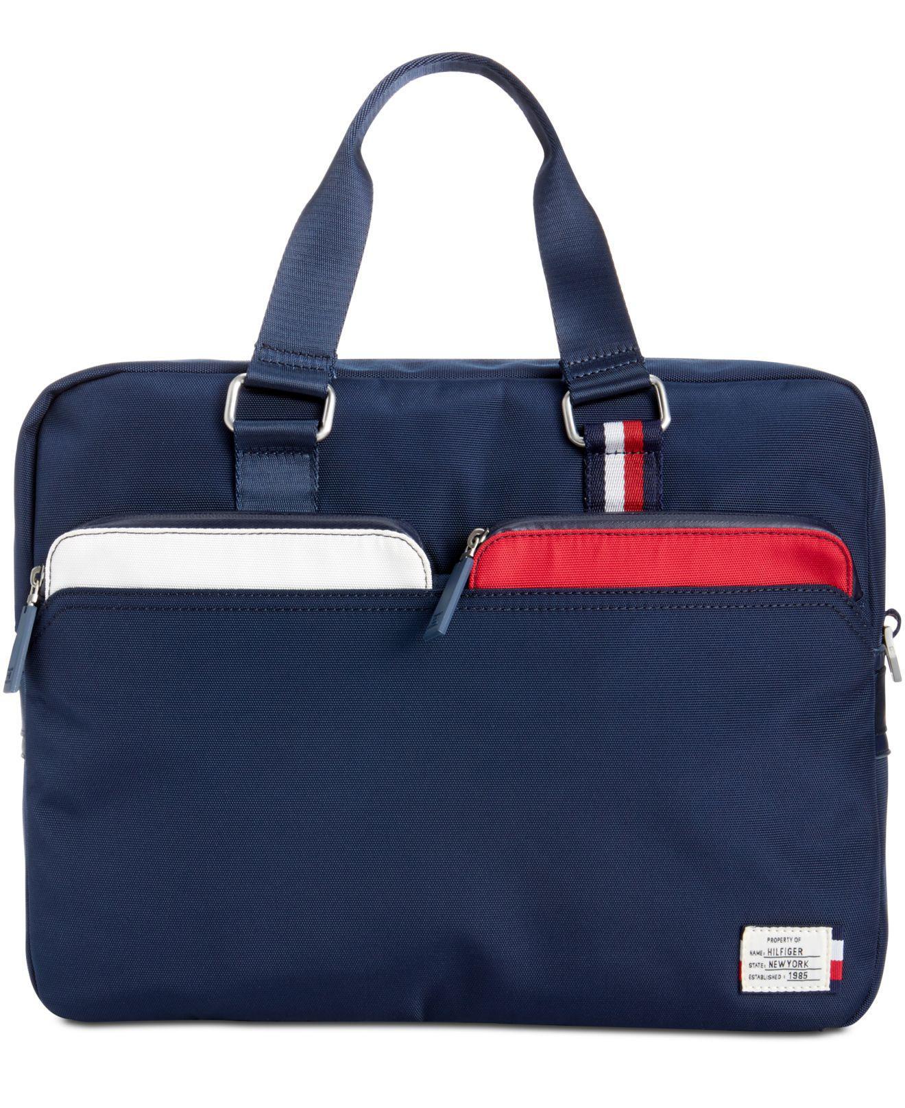 Lyst Tommy Hilfiger Men S City Computer Bag In Blue For Men