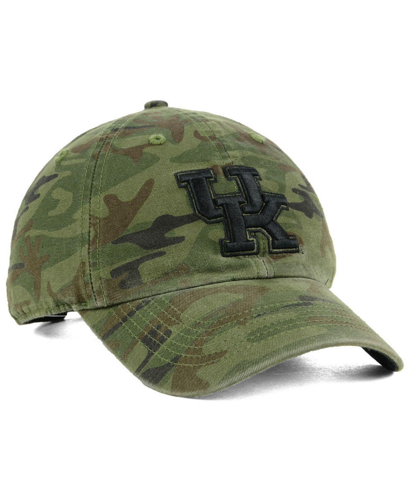 various colors 5cb44 7fdbf ... new style 47 brand green kentucky wildcats regiment clean up strapback  cap for men lyst.