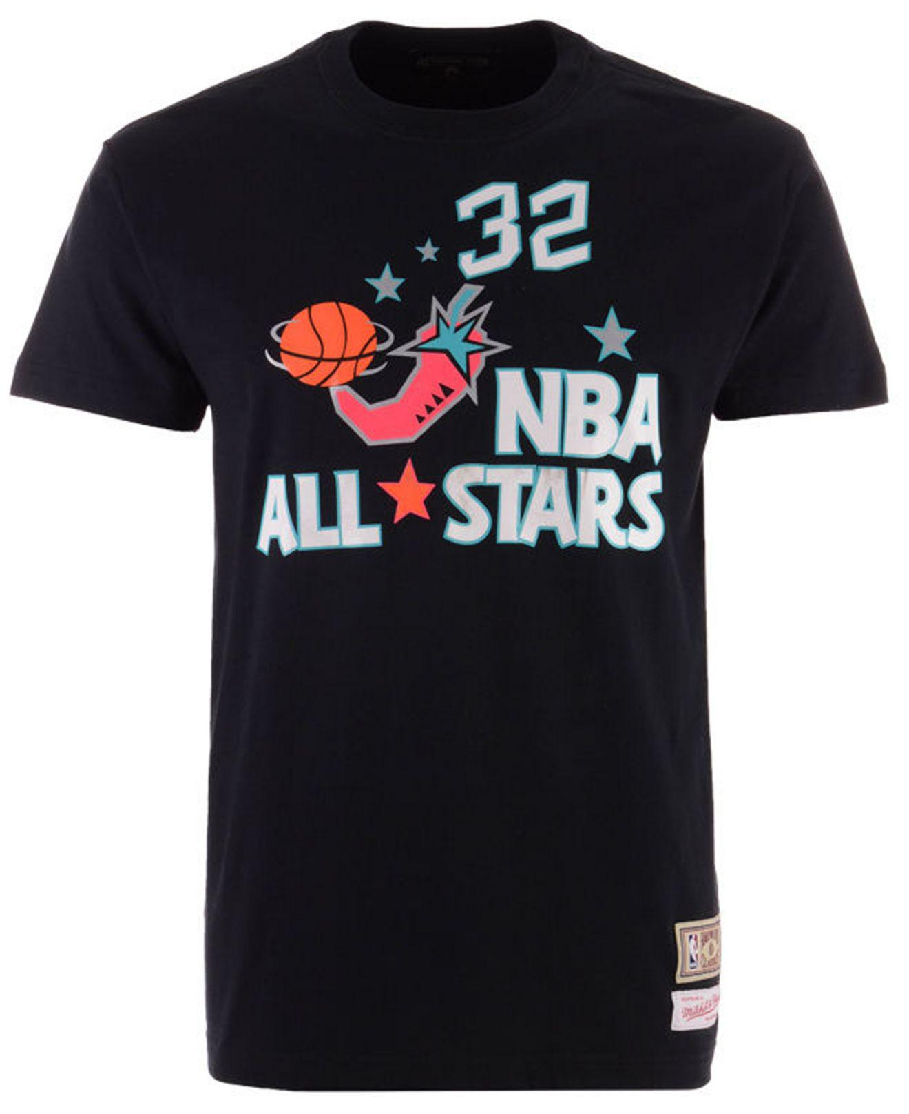 c6df91e8b Lyst - Mitchell   Ness Shaquille O neal Nba All Star 1996 Name   Number  Traditional T-shirt in Black for Men