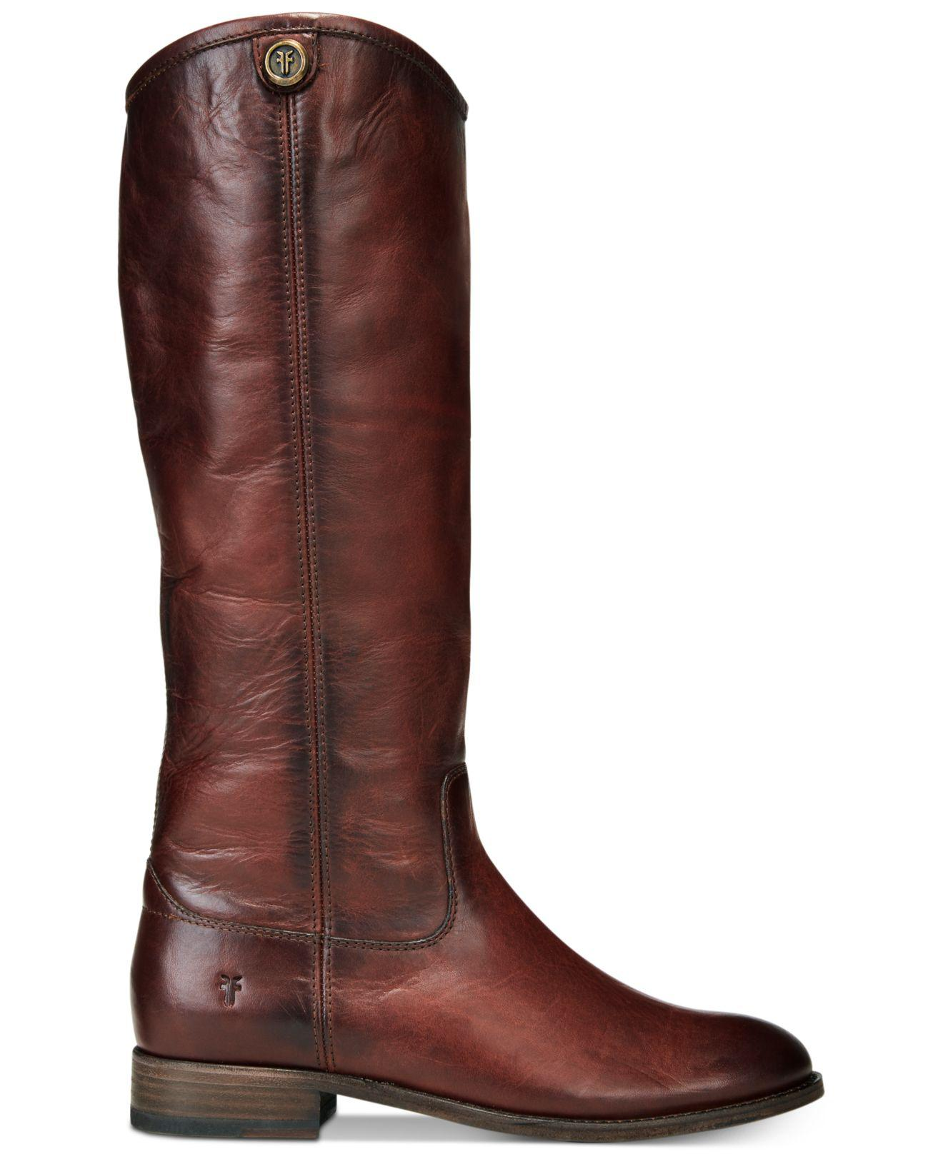 42e48183211 Lyst - Frye Melissa Button 2 Wide-calf Tall Boots in Red - Save 17%