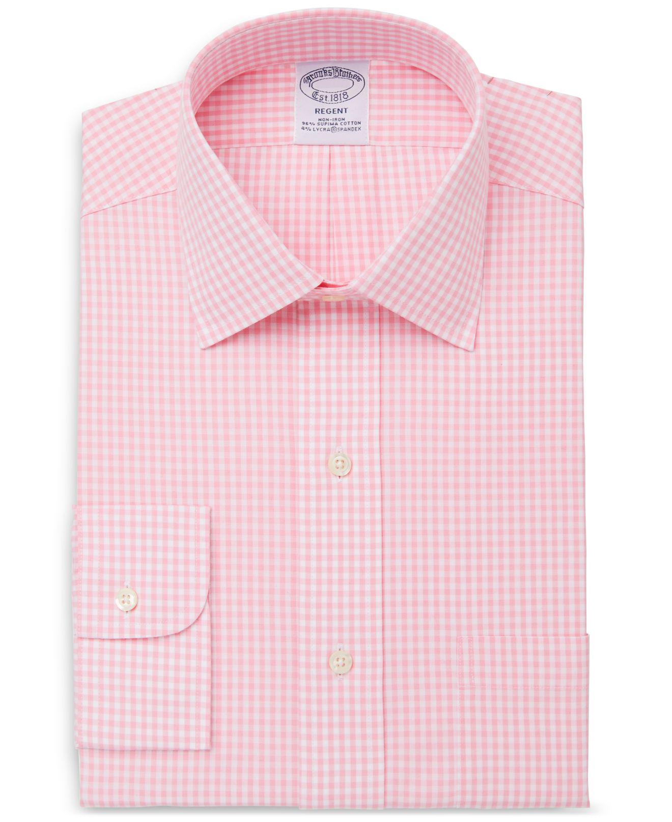 Nordstrom Men S Clic Fit Non Iron Gingham Dress Shirt Only