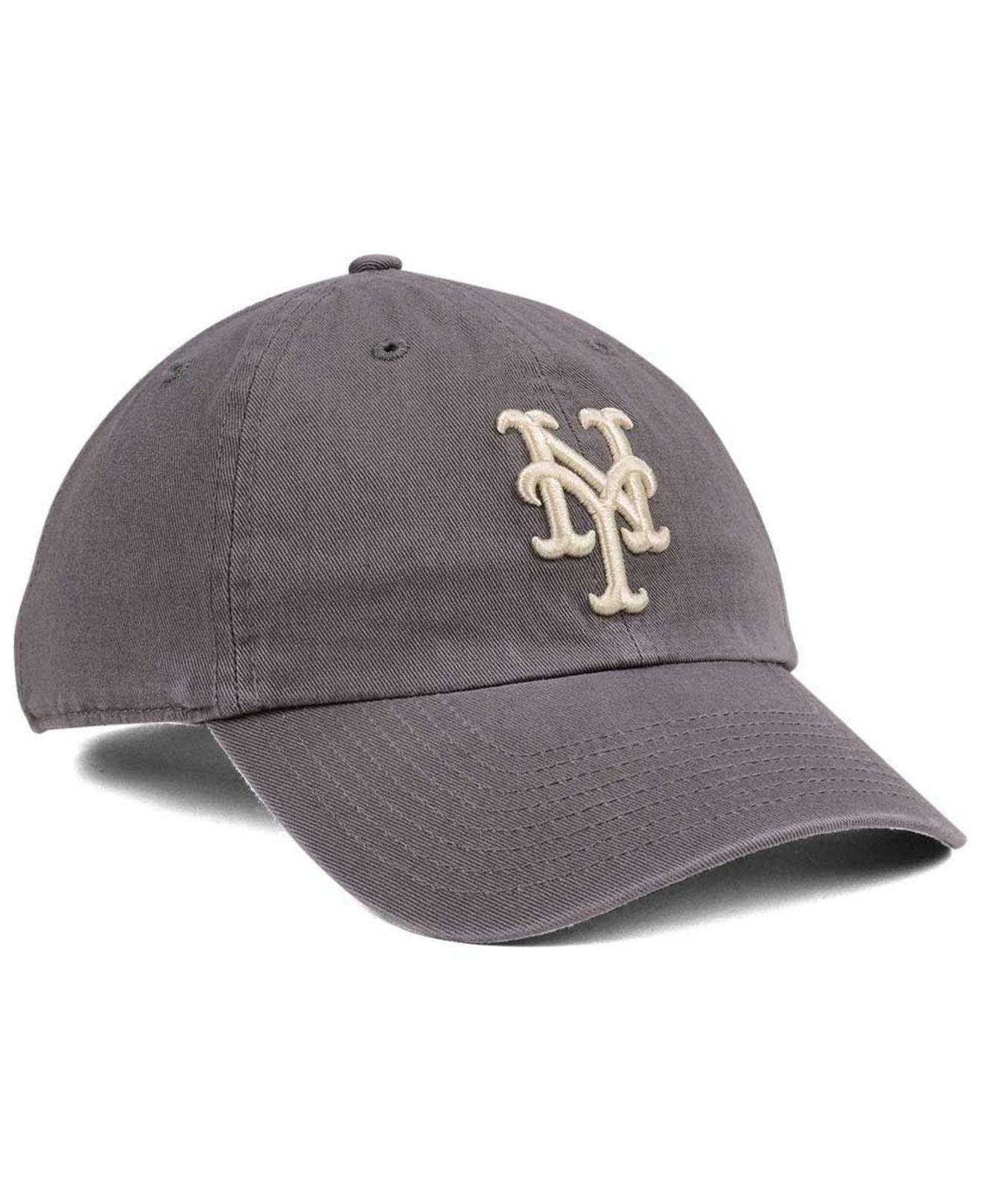 221326fd69315 ... reduced lyst 47 brand new york mets dark gray clean up cap in gray for  men