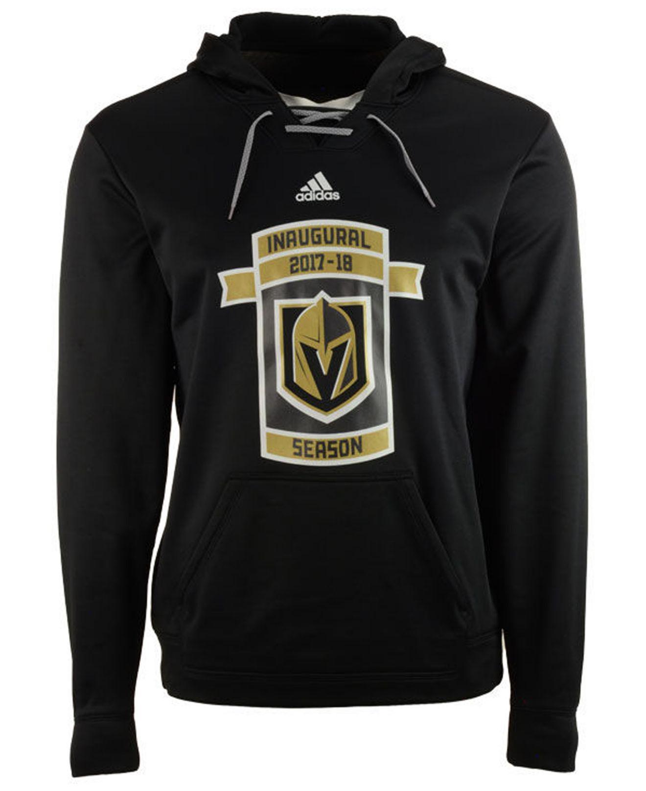 new concept 4c8de 26484 Adidas Black Vegas Golden Knights Inaugural Season Performance Fleece  Hoodie for men