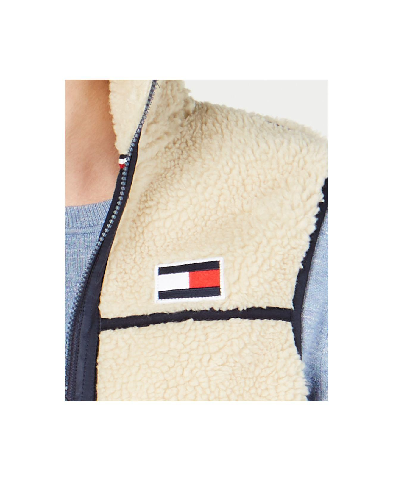 6fc7f069a Tommy Hilfiger Natural Expedition Full-zip Sherpa Fleece Vest, Created For  Macy's for men