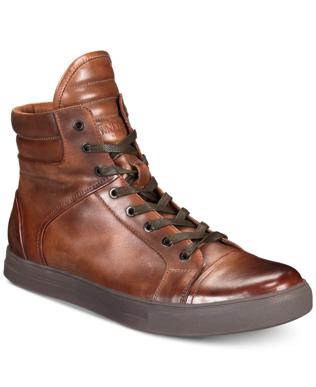 Kenneth Cole Reaction Leather Double Header High-top ...