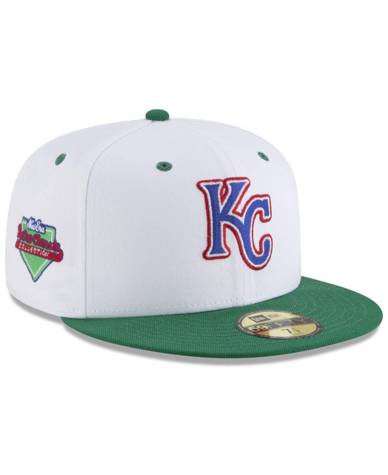 brand new f2408 bc479 ... release date ktz. mens white kansas city royals retro diamond 59fifty  fitted cap 8af97 7c657