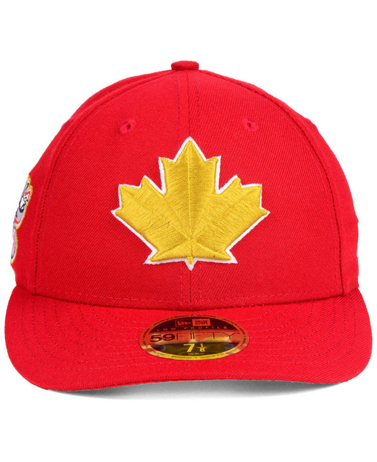 85d8a0d809b Lyst - KTZ Toronto Blue Jays Stars And Stripes Low Profile 59fifty Fitted  Cap 2018 in Red for Men