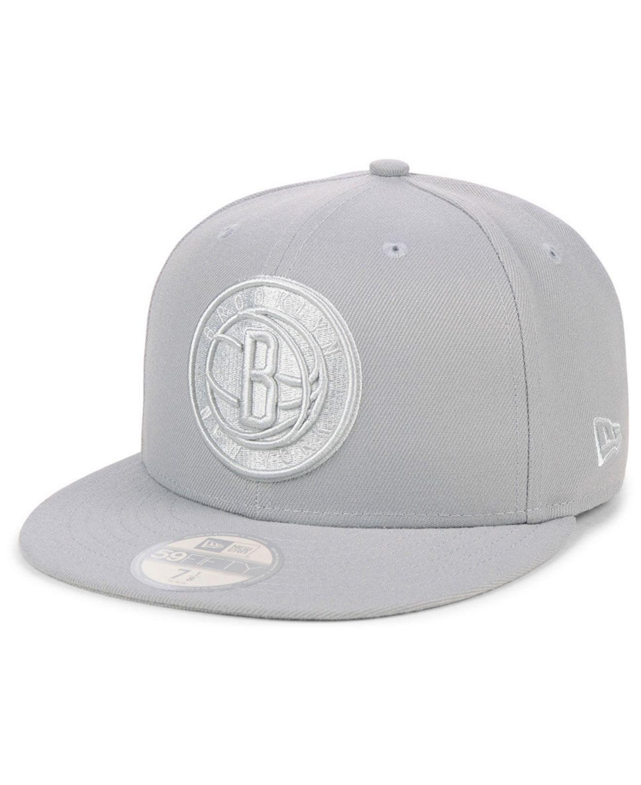 new concept 0d230 432f2 KTZ. Men s Gray Brooklyn Nets Fall Prism Pack 59fifty-fitted Cap