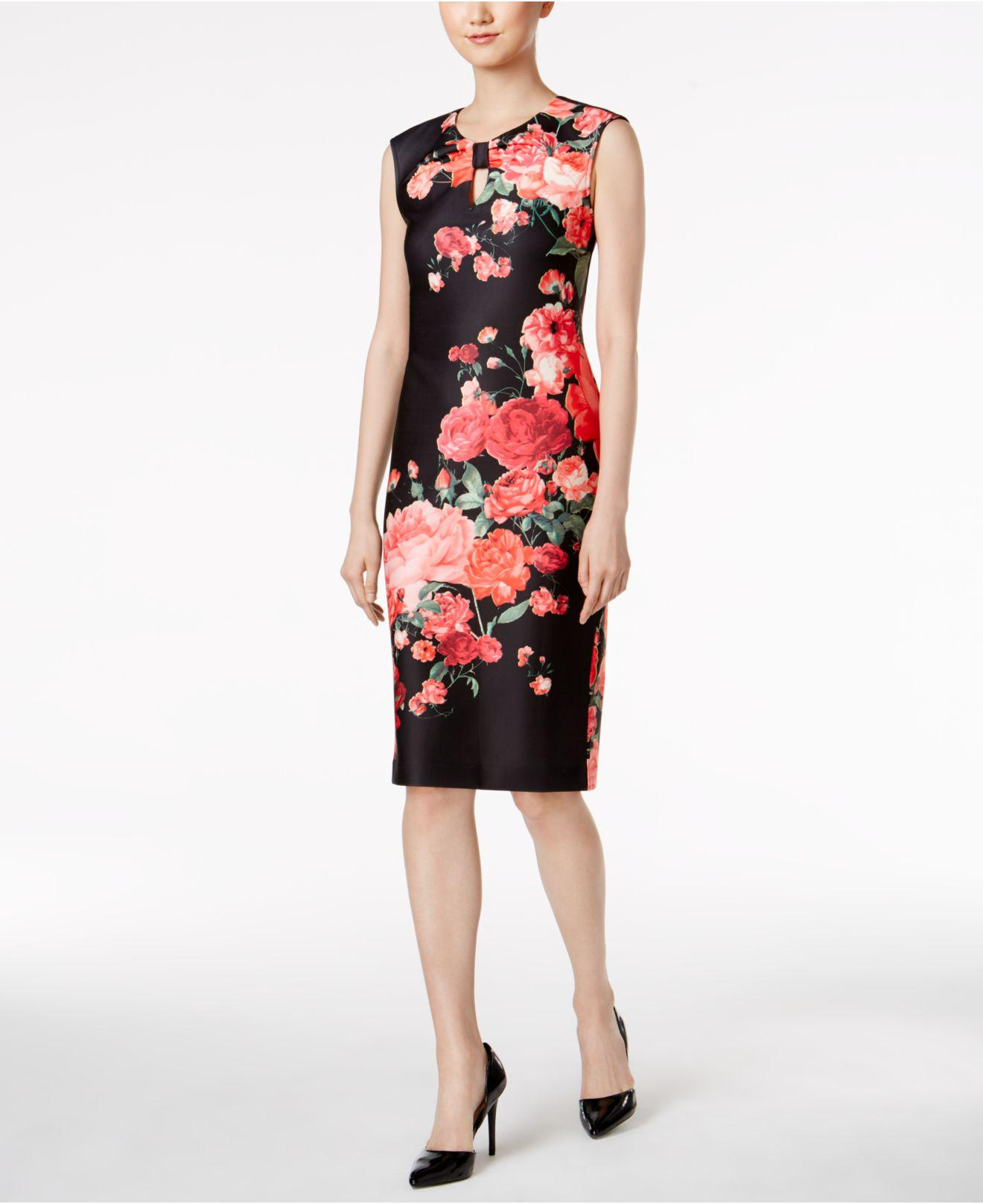 77e2cc7b5a8 Eci Floral Print Midi Dress - Data Dynamic AG