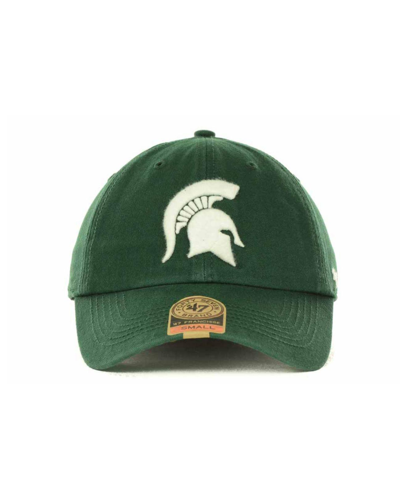 separation shoes 8745a 9551f ... cheap lyst 47 brand michigan state spartans franchise cap in green for  men eea76 75218