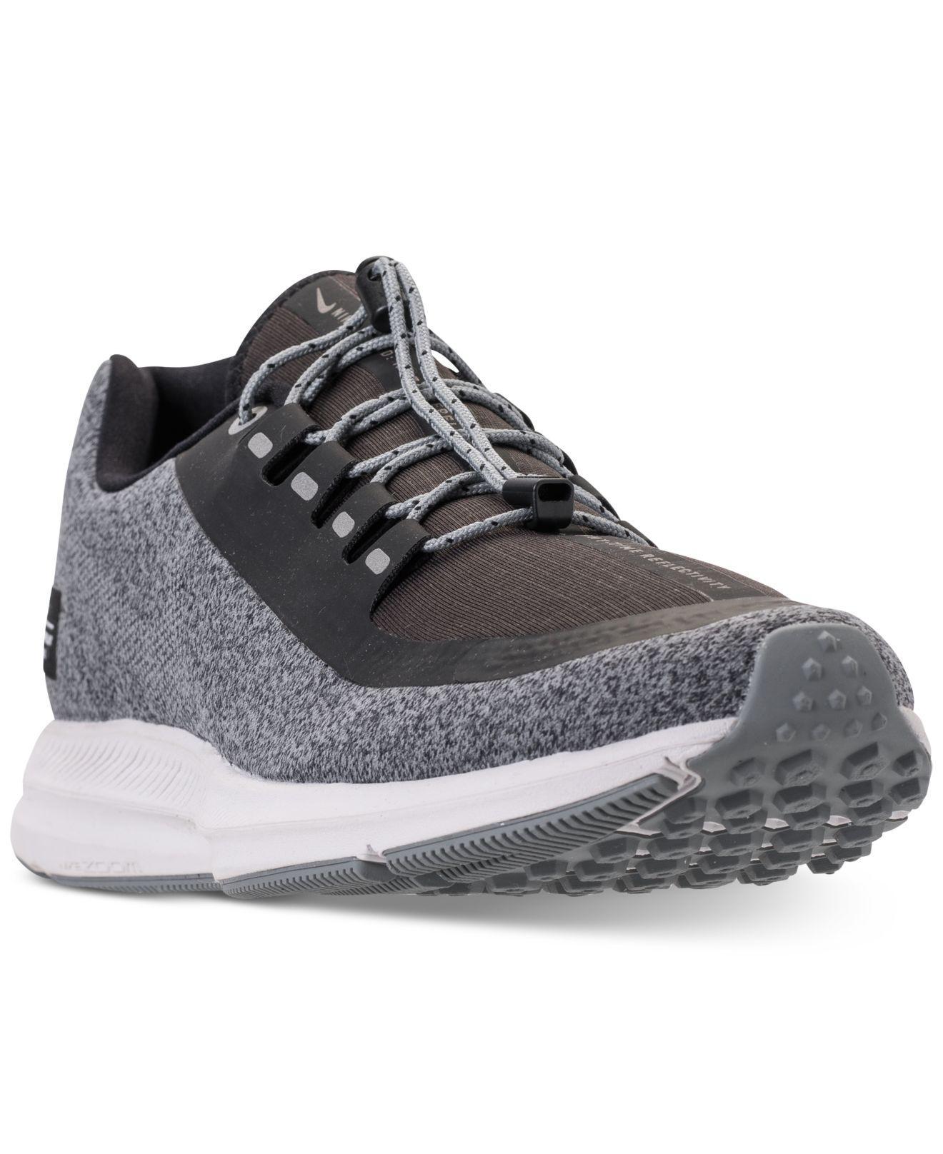 Nunca a nombre de Elegante  Nike Synthetic Zoom Winflo 5 Shield Athletic Shoe in Grey (Black) - Lyst