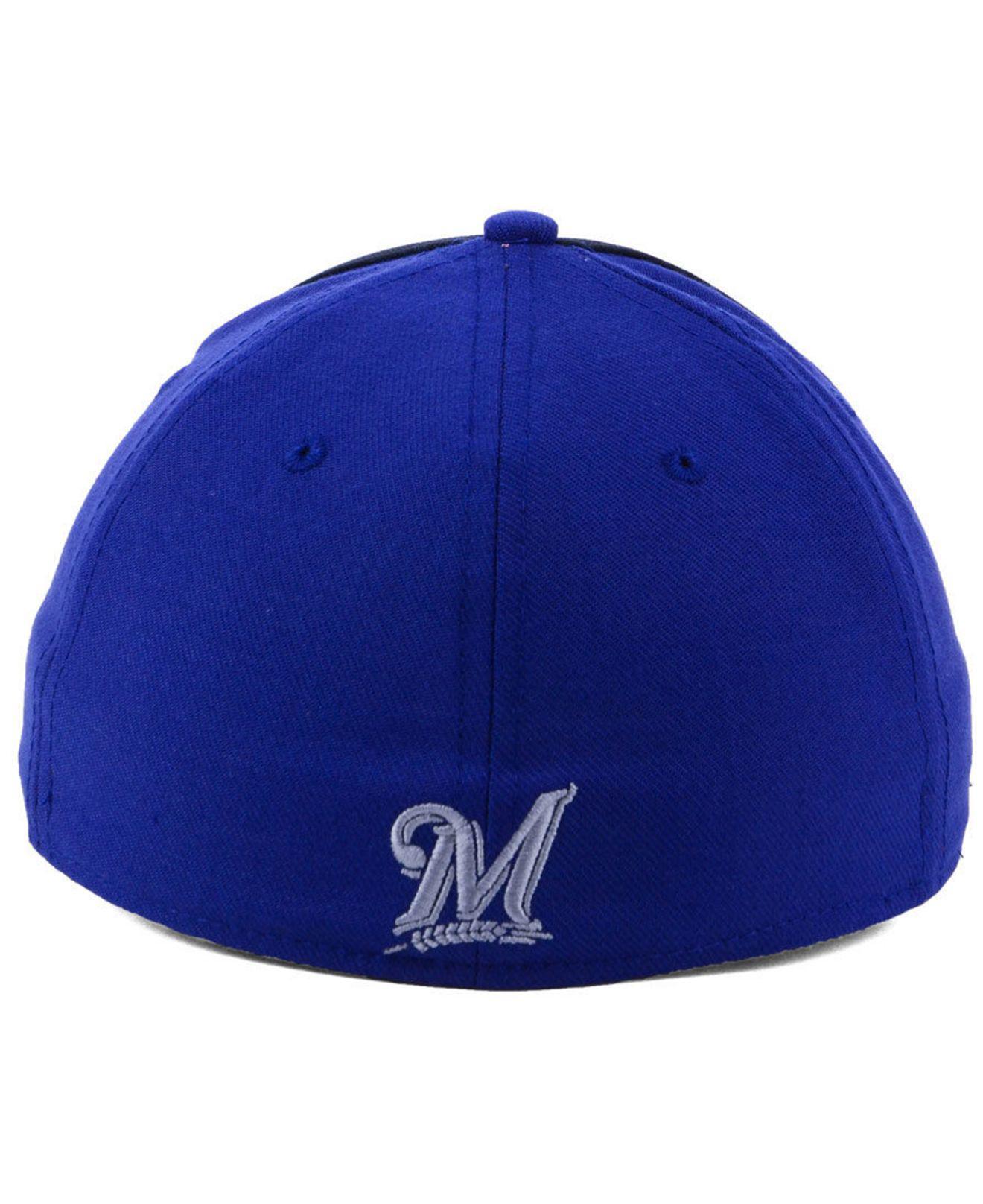 finest selection a3e48 bd3cb ... netherlands nike blue milwaukee brewers team color reflective swooshflex  cap for men lyst. view fullscreen