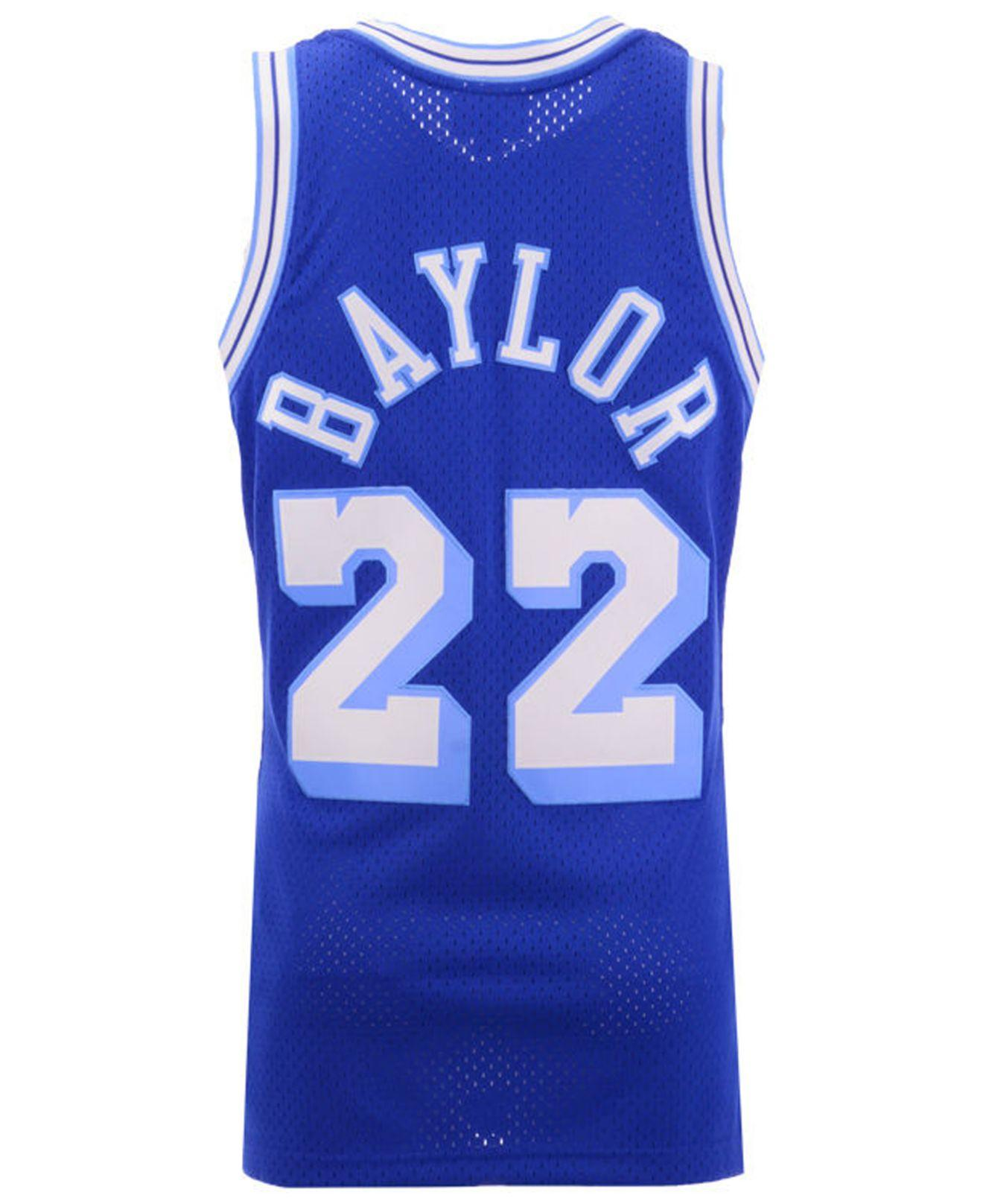 Lyst - Mitchell   Ness Elgin Baylor Los Angeles Lakers Hardwood Classic  Swingman Jersey in Blue for Men 09f14cae0