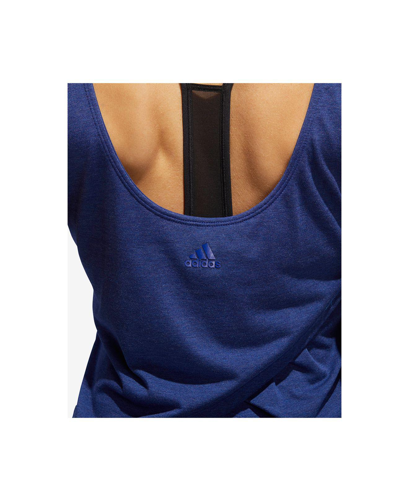 3486cf8449526 Lyst - adidas U-back Training Tank Top in Blue
