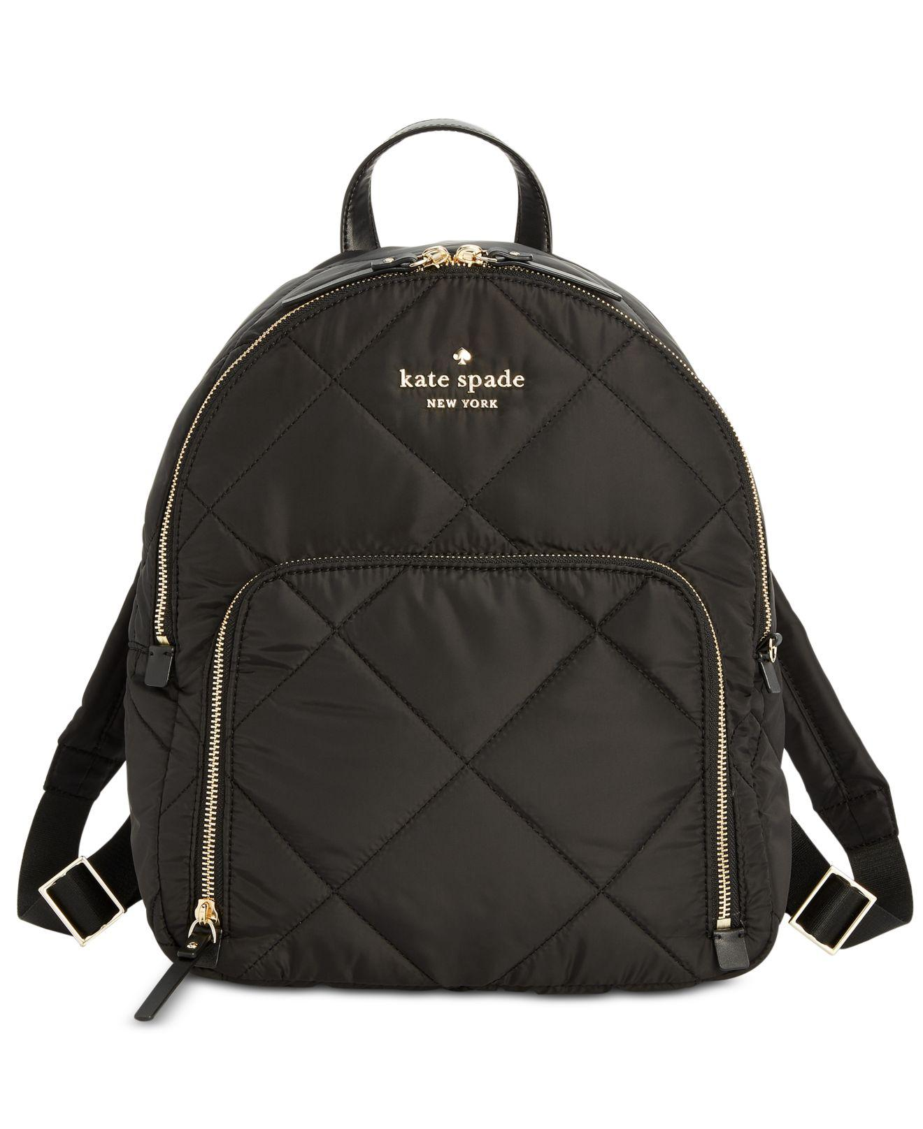 93c69663992a Lyst - Kate Spade Watson Lane Quilted Hartley Backpack in Black