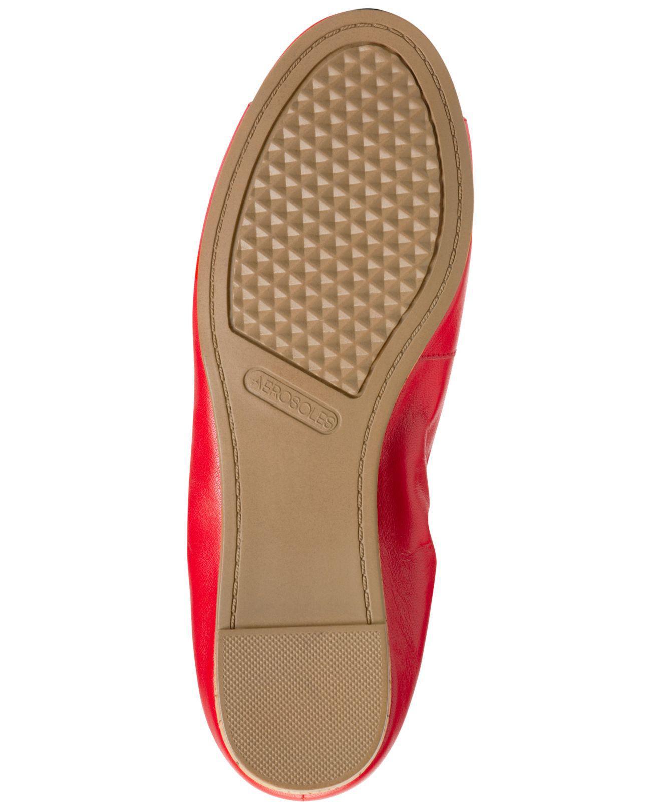 1403baa5b3f2 Lyst - Aerosoles Tidbit Peep-toe Flats in Red