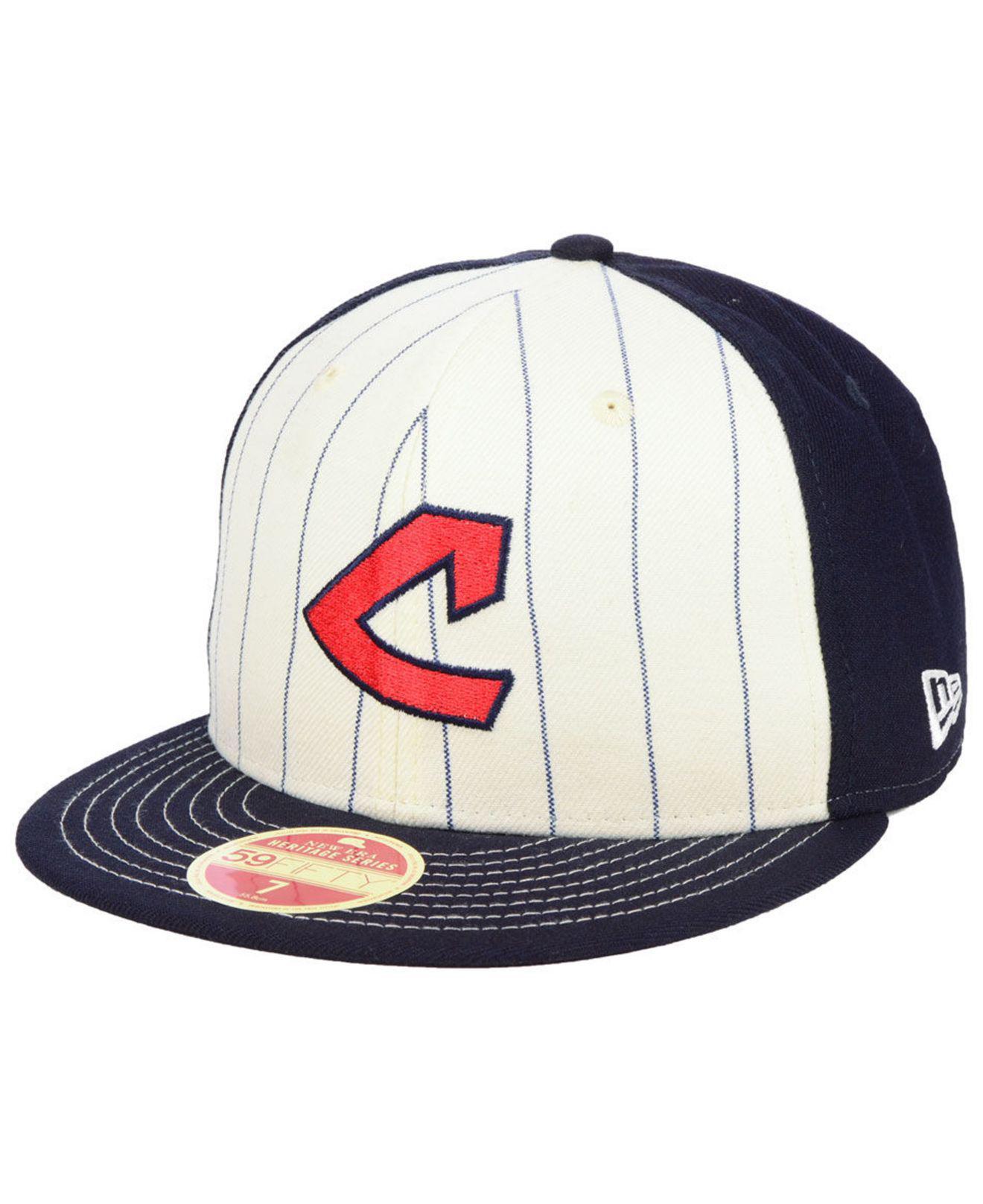 best website 66ef9 72ece ... clearance ktz. mens blue cleveland indians vintage front 59fifty fitted  cap 0534f 13484