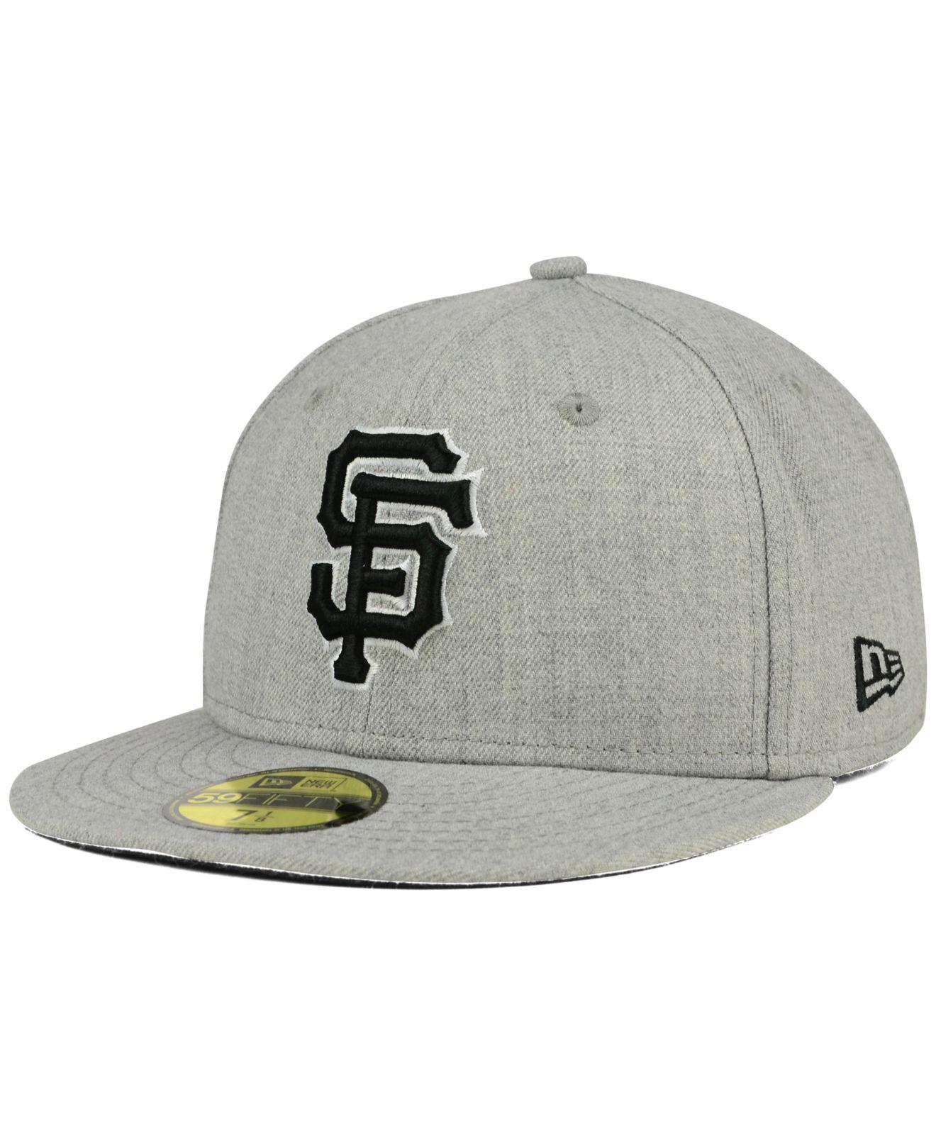 KTZ - Gray San Francisco Giants Heather Black White 59fifty Cap for Men -  Lyst. View fullscreen 14a6dfe43
