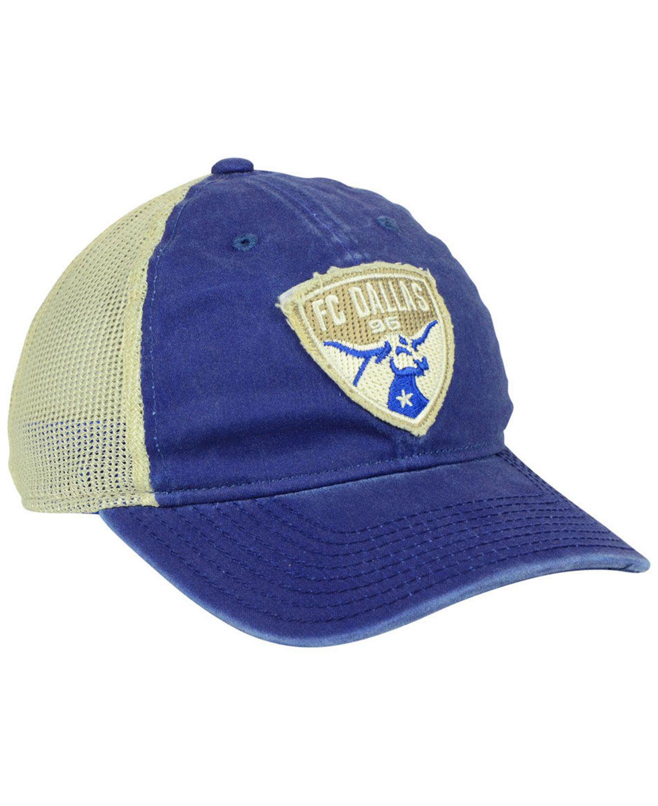 the best attitude 806b5 c8a95 ... get adidas blue fc dallas bleached trucker cap lyst. view fullscreen  79ed6 a7a1d