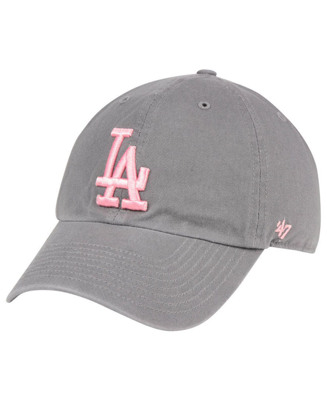 separation shoes 22928 e3064 47 Brand. Women s Los Angeles Dodgers Dark Gray Pink Clean Up Cap