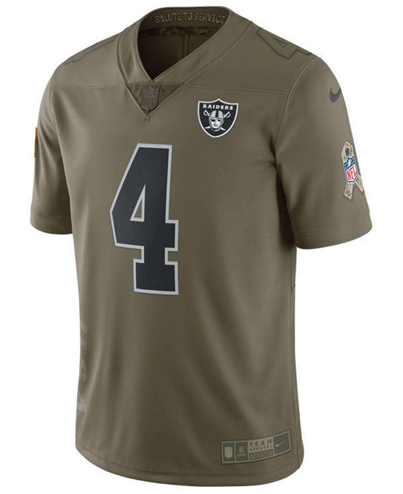 Derek Carr Oakland Raiders Salute To Service Jersey
