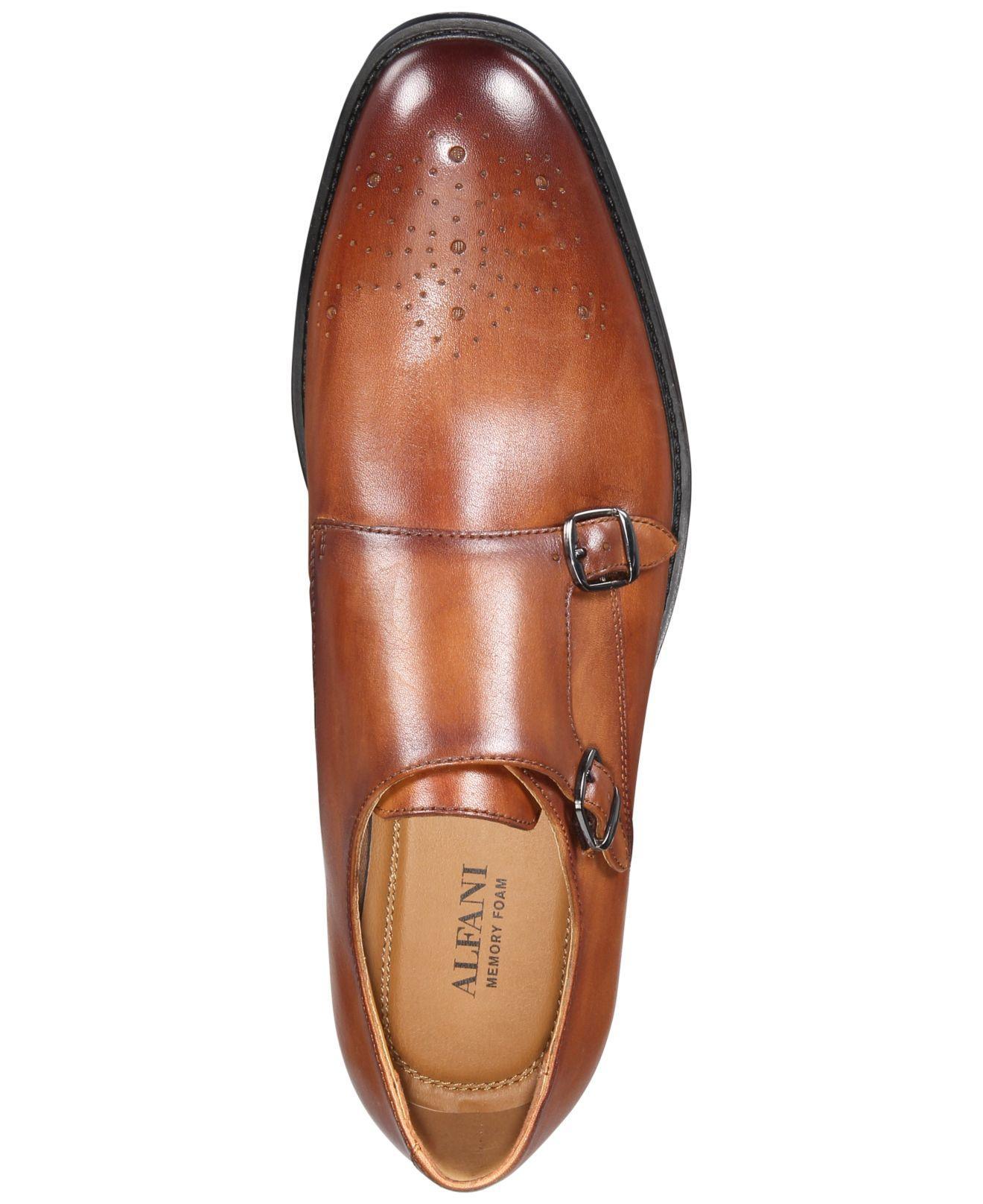 Alfani Leather Sheridan Double-monk