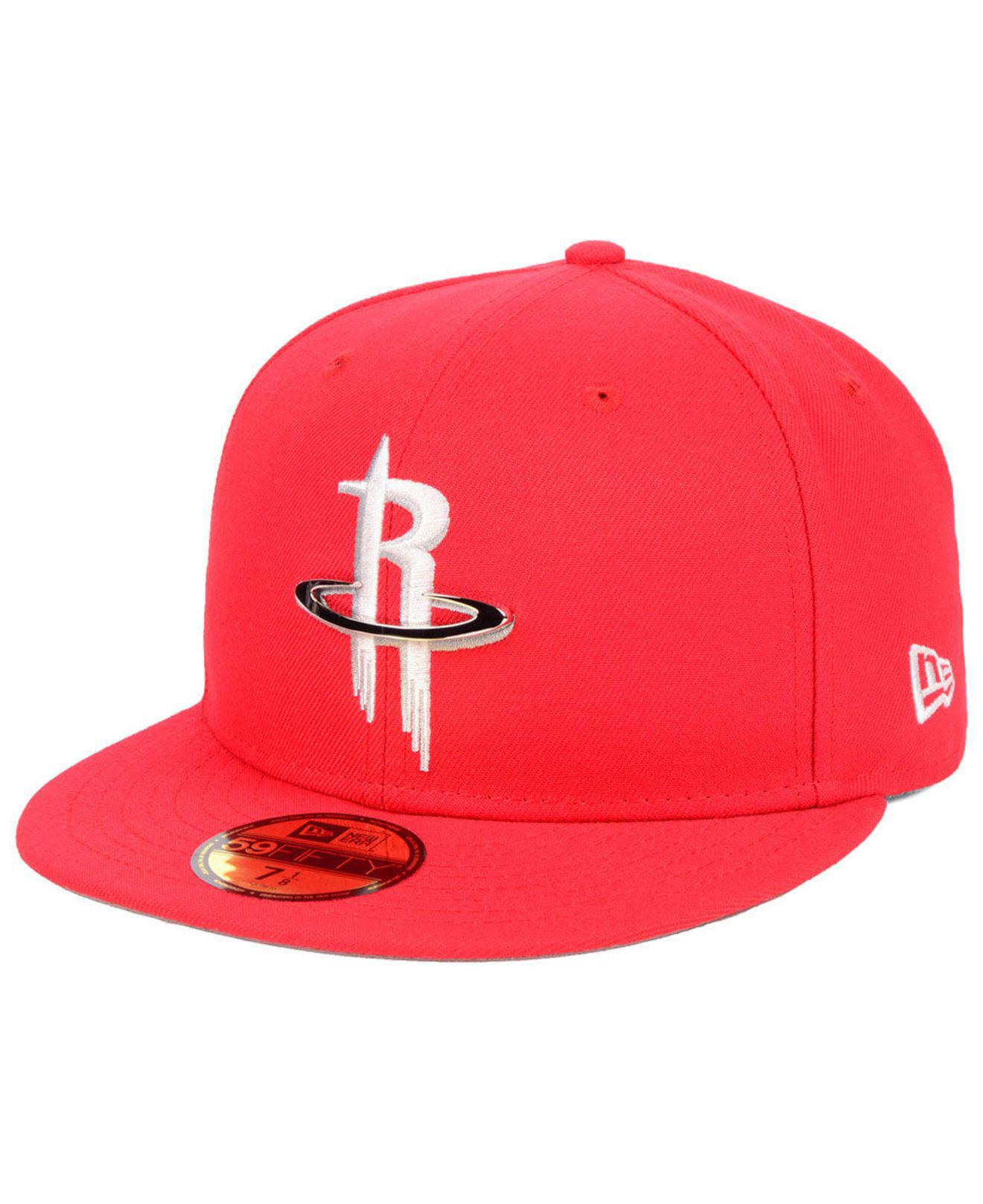 new authentic official photos factory authentic KTZ Synthetic Houston Rockets Metal Mash Up 59fifty-fitted Cap in ...