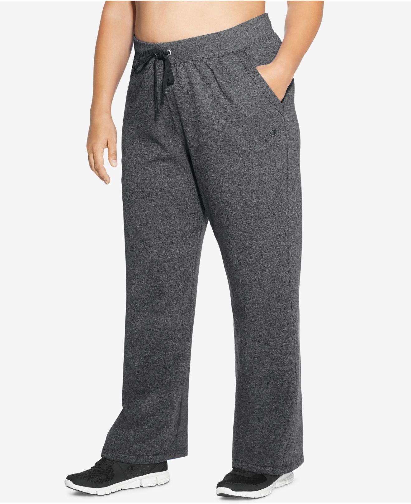 79d963b296e92 Champion Plus Size Jersey Pants in Gray - Lyst