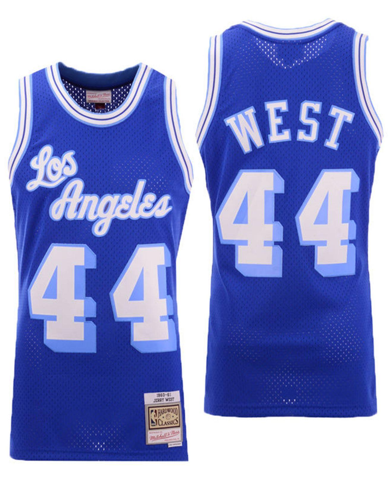 Mitchell & Ness Synthetic Jerry West Los Angeles Lakers Hardwood ...