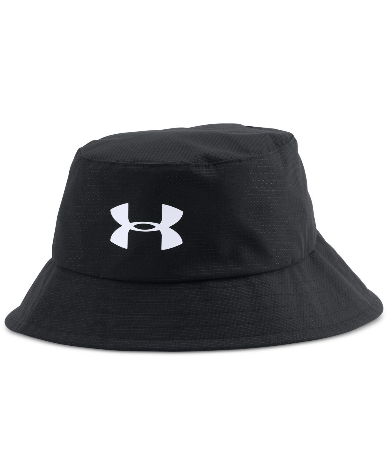 Lyst Under Armour Men S Golf Bucket Hat In Black For Men